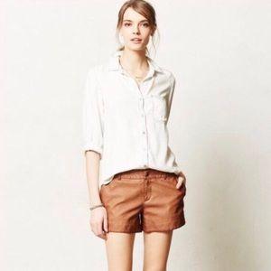 Pilcro & the Letterpress faux leather shorts